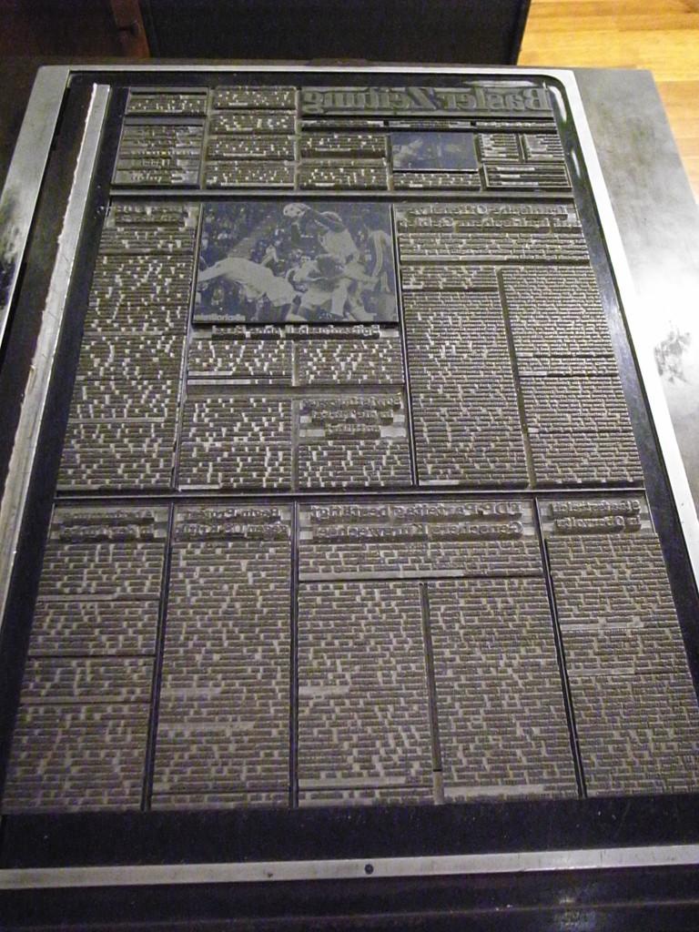 スイス・バーゼルの紙博物館で撮った写真。日本でもおなじみの活版。