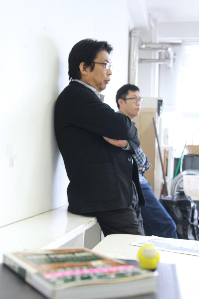 「社内起業学」教授、望月暢彦さんも後ろで聞いてました。望月さんも「自分の本」出身なんです。サッカーの監督みたい(笑)