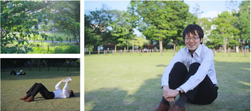 日曜の昼下がり、待ち合わせた中目黒公園に到着。 いた。伊藤さんだ。 「天気がよくて気持ちいいですね」少し照れながら、笑顔で迎えてくれた。