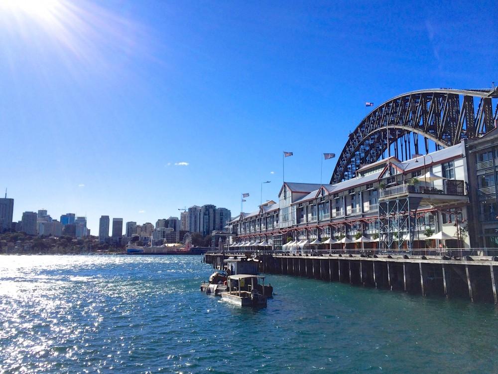 ハーバーブリッジ。シドニーは本当に見所が多くて、何を見てもキラキラ輝いて見えた。寒かったけれど天気が良い日が多く、港近くを散歩するのが好きだった