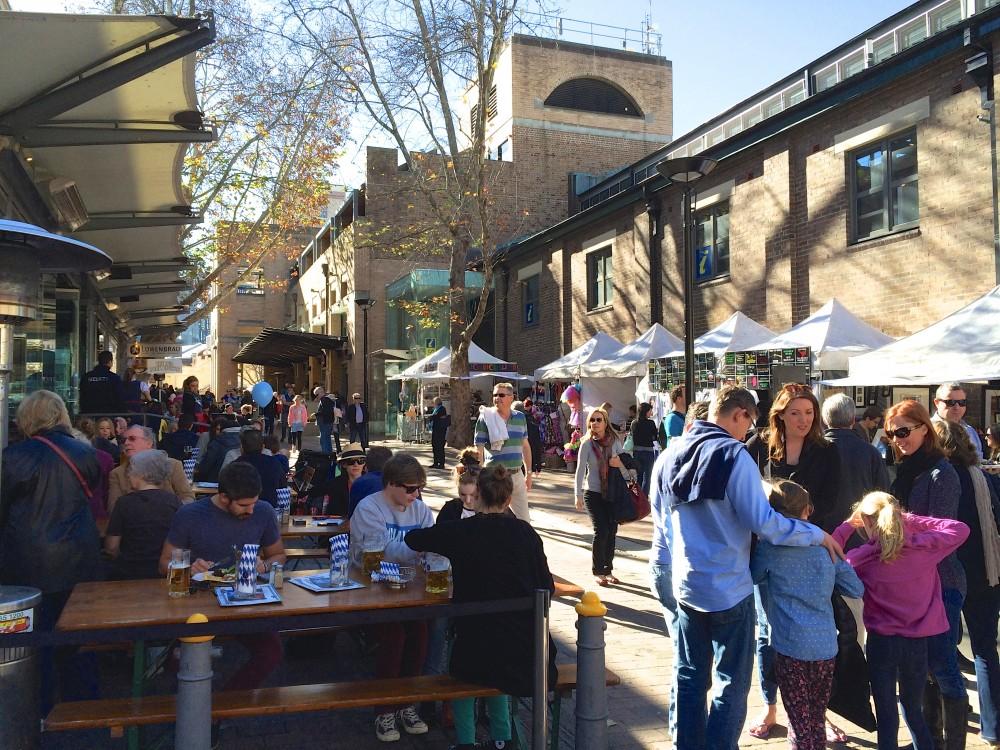 ロックス地区。シドニーの名所の観光名所の中で、一番好きだったエリア。古い街並みがとても素敵で、オシャレなお店もたくさん並んでいた。週末はマーケットが開かれ、たくさんの人で賑わっていた