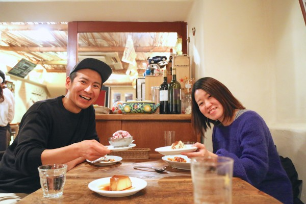 深井次郎と武谷朋子さん「デザートきました!」