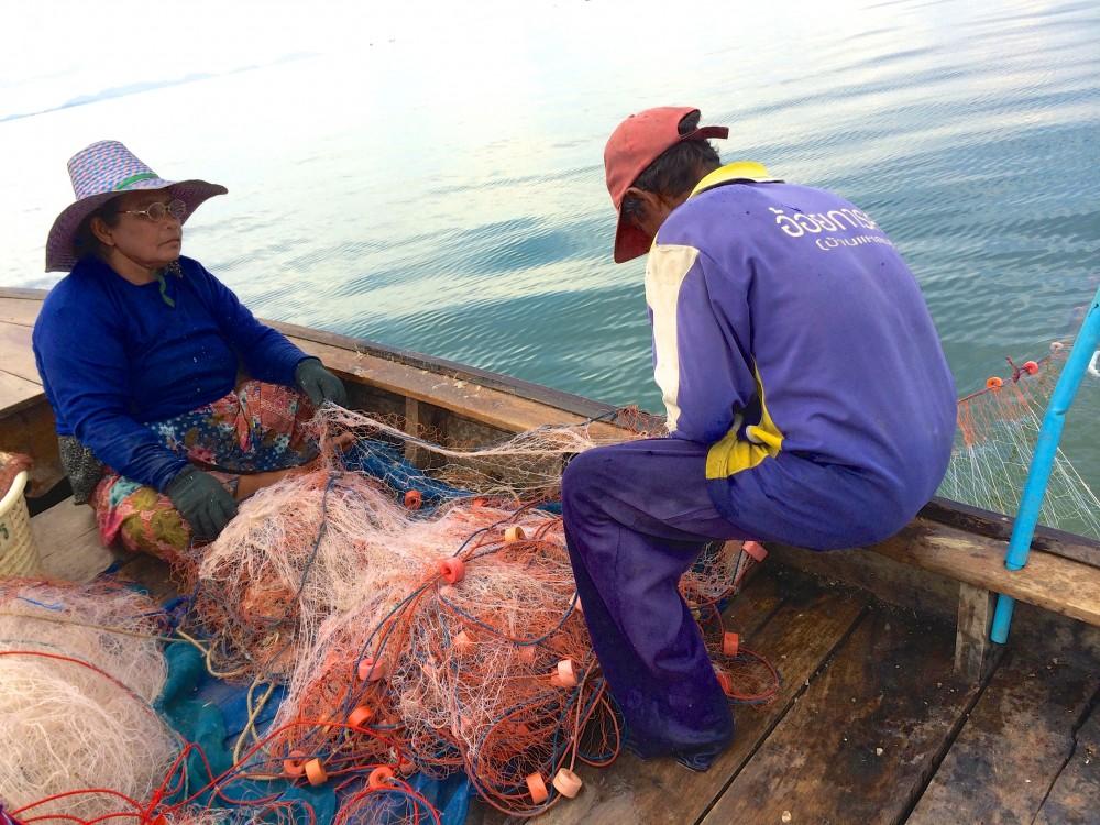 漁師のパパさん、ママさん」・・・この夫婦が私たちに釣りのイロハを教えてくれた。無口だけど、マジメで優しい2人。