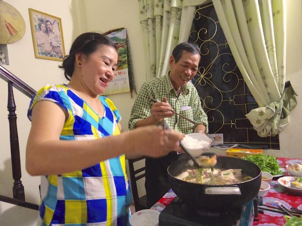 マイちゃんのご両親。お二人とも優しさがにじみ出ているような素敵な笑顔。穏やかなお父さんとしっかり者のお母さん、という感じだった