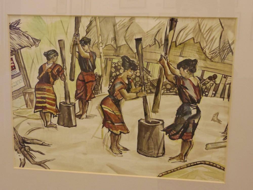 ベトナム絵画。どこか懐かしさを感じるタッチ。博物館でたくさんの絵画を見ながら、日本とベトナムの文化や感性は結構近しいのかもしれないと思ったり…