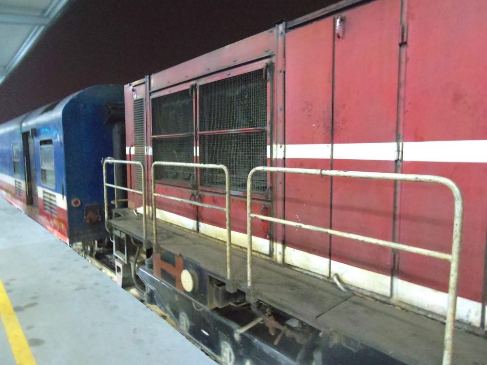 夜行列車。見た目も中身も古くてボロボロの電車(別に汚くはない)。実は初めての夜行列車だったので、かなり緊張していた