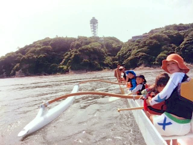 江の島アウトリガーカヌー