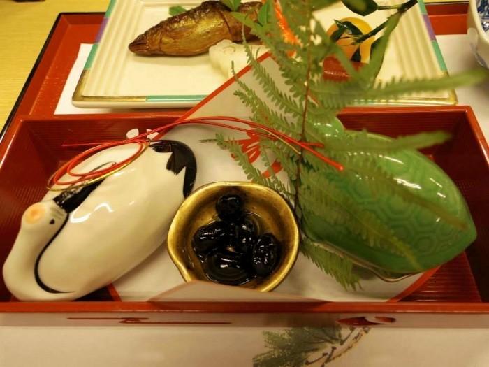 鶴亀。お正月にはやはり縁起が良いものを。日本のお正月はやっぱり良いなぁとしみじみ