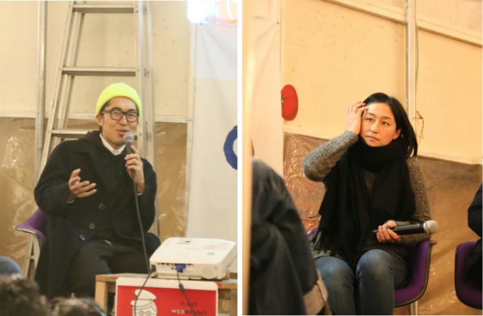 Commune246のシェアオフィス「みどり荘2」を拠点に活動する清田直博さん小柴美保さん『WE WORK HERE』の企画編集