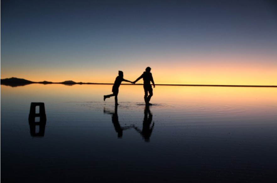 ボリビア / ウユニ塩湖にて
