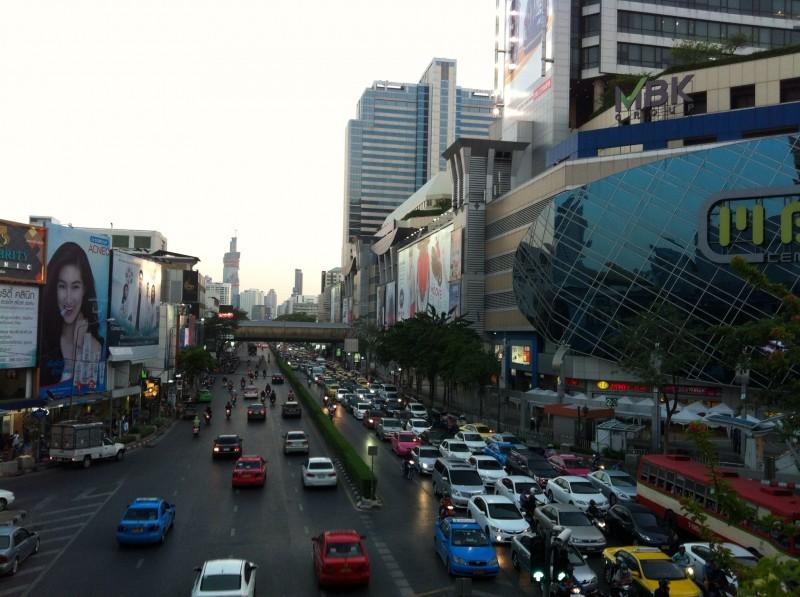 有名なバンコクの渋滞。