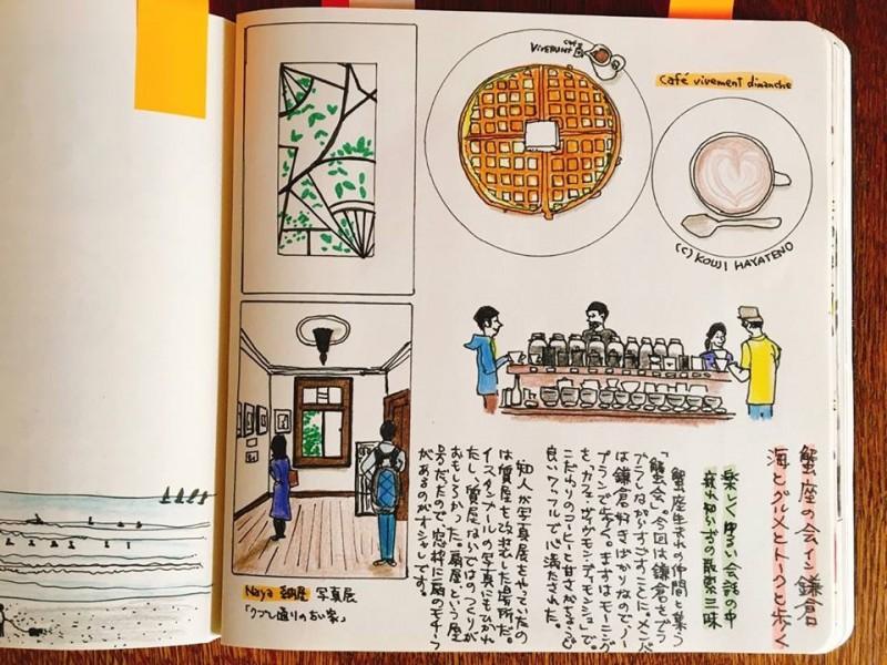 友人たちと鎌倉の人気カフェに行った時の作品