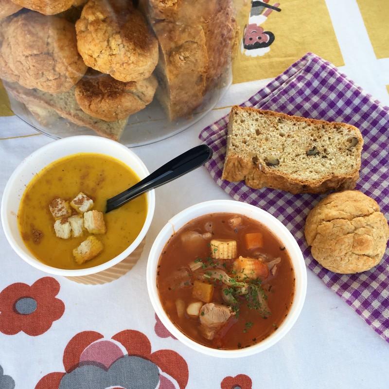 もともと好きだった具だくさんスープをスープ屋で学ぶ。 スープはwatoさんの得意料理のひとつ。