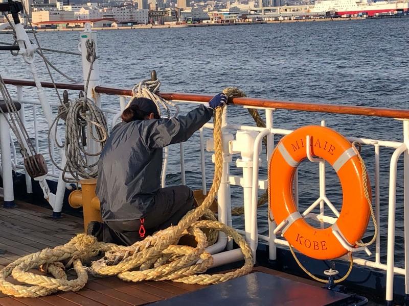 帆船での暮らし