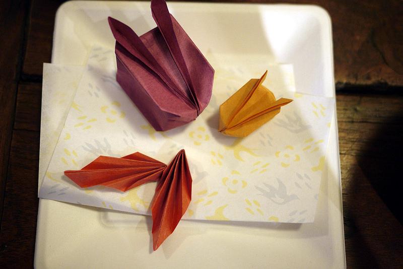 かわいい折り紙作品は中村真美さん作